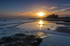 3. Sunrise at Bamburgh Castle