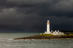 Lismore lighthouse before the storm by Nick Prior