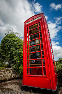 Stichill Gallery -  a tiny gallery held in a disused old red phone box