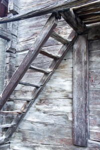 Ladder in Naters Village Photo by David Savory