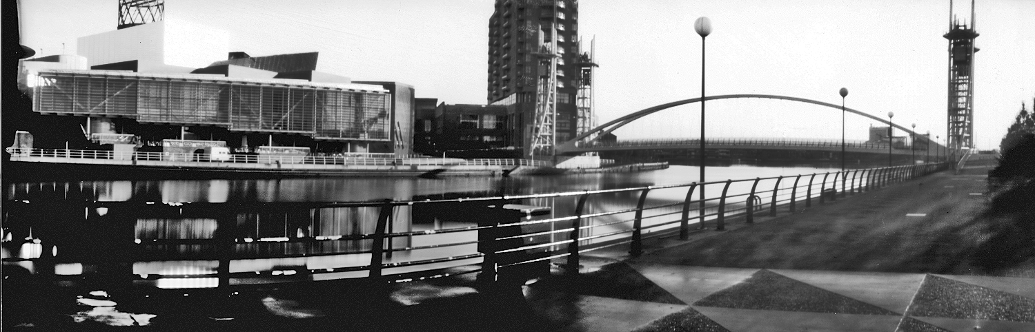Salford Quays Photo Nick Prior Pinhole Camera Image Taken From A 10x4 Inch Paper Negative